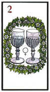 Two of Cups Tarot card in Esoterico deck