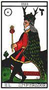 The Emperor Tarot card in Esoterico deck