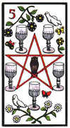 Five of Cups Tarot card in Esoterico deck