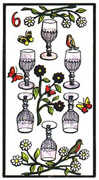 Six of Cups Tarot card in Esoterico Tarot deck