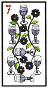 Seven of Cups Tarot card in Esoterico deck