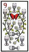 Nine of Cups Tarot card in Esoterico deck