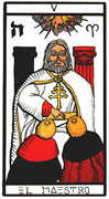 The Hierophant Tarot card in Esoterico deck