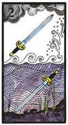Two of Swords Tarot card in Esoterico deck