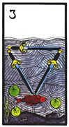 Three of Swords Tarot card in Esoterico deck