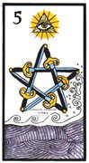 Five of Swords Tarot card in Esoterico deck