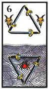 Six of Swords Tarot card in Esoterico deck