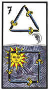 Seven of Swords Tarot card in Esoterico deck