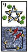 Nine of Swords Tarot card in Esoterico deck
