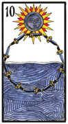 Ten of Swords Tarot card in Esoterico deck