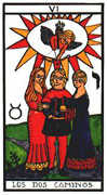 The Lovers Tarot card in Esoterico deck