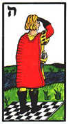 Page of Swords Tarot card in Esoterico deck