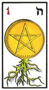 Ace of Coins Tarot card in Esoterico deck