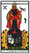 The Chariot Tarot card in Esoterico deck