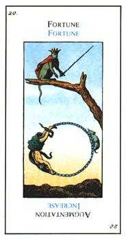The Wheel of Fortune Tarot Card - Etteilla Tarot Deck