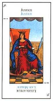 Justice Tarot Card - Etteilla Tarot Deck