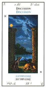 The Moon Tarot Card - Etteilla Tarot Deck