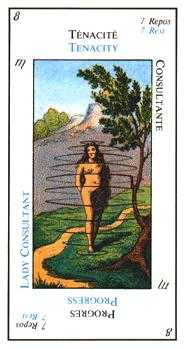 The Popess Tarot Card - Etteilla Tarot Deck