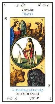 The World Tarot Card - Etteilla Tarot Deck
