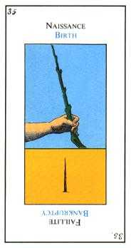Ace of Wands Tarot Card - Etteilla Tarot Deck