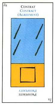 Four of Batons Tarot Card - Etteilla Tarot Deck