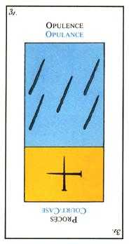 Five of Lightening Tarot Card - Etteilla Tarot Deck