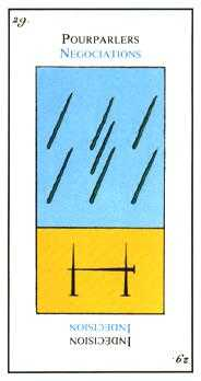 Seven of Lightening Tarot Card - Etteilla Tarot Deck