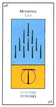 Ten of Staves Tarot Card - Etteilla Tarot Deck