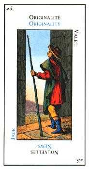 Page of Staves Tarot Card - Etteilla Tarot Deck