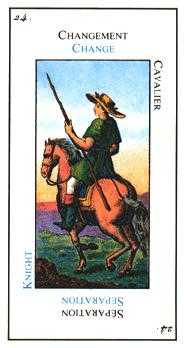 Knight of Clubs Tarot Card - Etteilla Tarot Deck