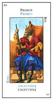 King of Staves Tarot Card - Etteilla Tarot Deck