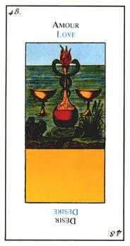 Two of Water Tarot Card - Etteilla Tarot Deck