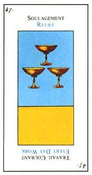Three of Bowls Tarot Card - Etteilla Tarot Deck