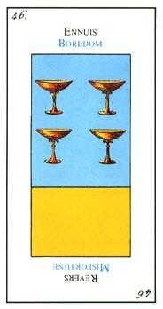 Four of Bowls Tarot Card - Etteilla Tarot Deck