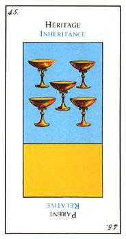 Five of Bowls Tarot Card - Etteilla Tarot Deck