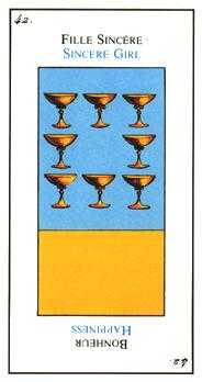 Eight of Cups Tarot Card - Etteilla Tarot Deck
