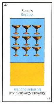 Nine of Bowls Tarot Card - Etteilla Tarot Deck