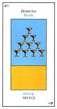 Ten of Cups Tarot Card - Etteilla Tarot Deck