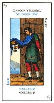 Valet of Cups Tarot Card - Etteilla Tarot Deck