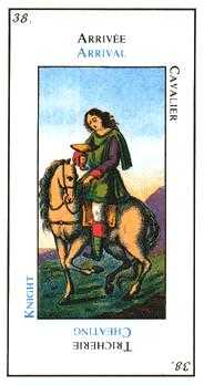Knight of Ghosts Tarot Card - Etteilla Tarot Deck
