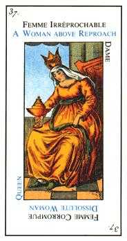 Queen of Cups Tarot Card - Etteilla Tarot Deck