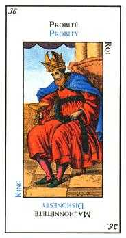 King of Hearts Tarot Card - Etteilla Tarot Deck
