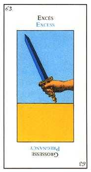 Ace of Arrows Tarot Card - Etteilla Tarot Deck