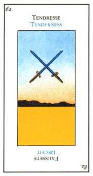 Two of Wind Tarot Card - Etteilla Tarot Deck