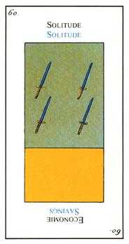 Four of Arrows Tarot Card - Etteilla Tarot Deck