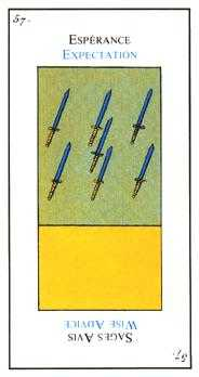 Seven of Swords Tarot Card - Etteilla Tarot Deck