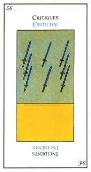Eight of Arrows Tarot Card - Etteilla Tarot Deck
