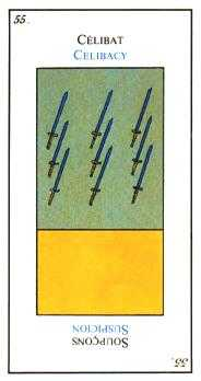 Nine of Arrows Tarot Card - Etteilla Tarot Deck