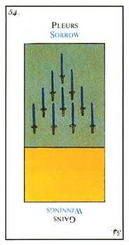 Ten of Arrows Tarot Card - Etteilla Tarot Deck