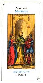 The Lovers Tarot Card - Etteilla Tarot Deck